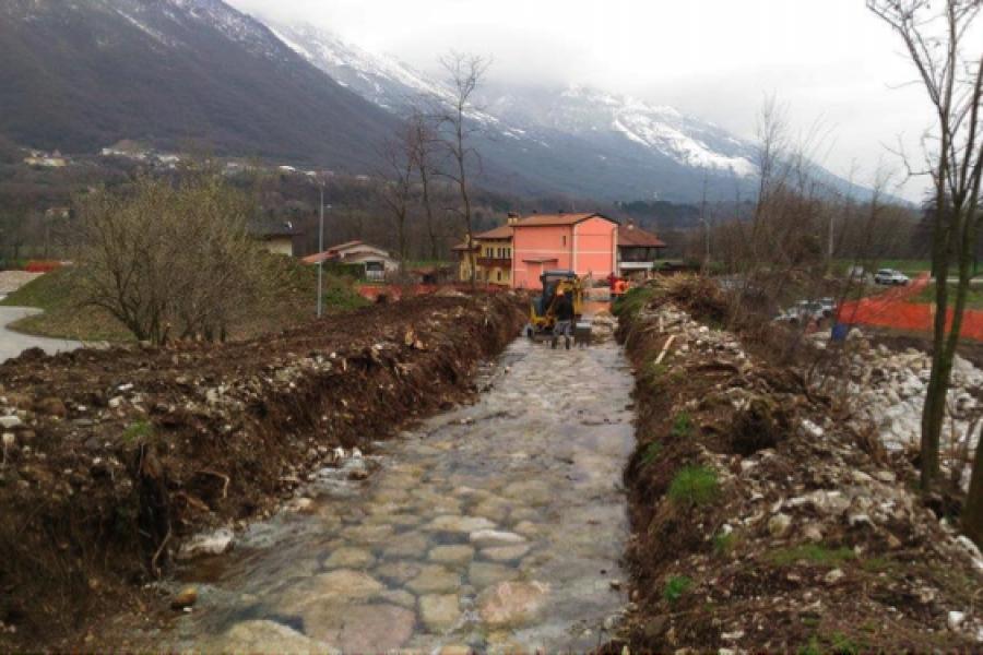 Completato l'intervento di sistemazione idraulico forestale lungo il Rio Narotti