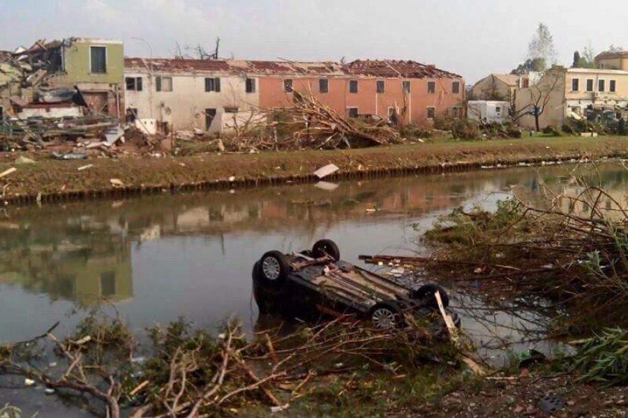 Tornado in Riviera del Brenta. Aumentate le percentuali di ristoro dei danni alle abitazioni