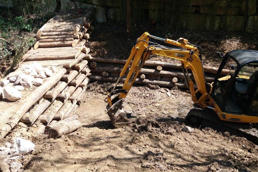 In corso una serie di interventi intensivi di sistemazione idraulico forestale a Marcoalda