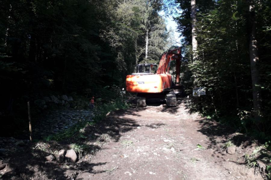 Avviati i lavori di difesa idraulico forestale a Fontane di Lamon sul Rio Molino
