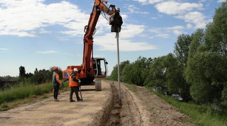 Al via i lavori di un nuovo diaframma plastico a Cavarzere sul fiume Adige