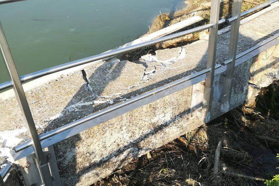 Avviati i lavori per ripristinare il manufatto idraulico in corrispondenza del Ponte dei Cavalli a Dolo
