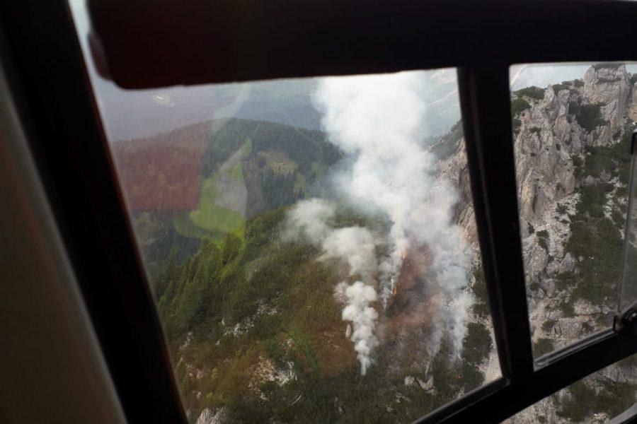 Incendio in Comelico. Immediato intervento regionale