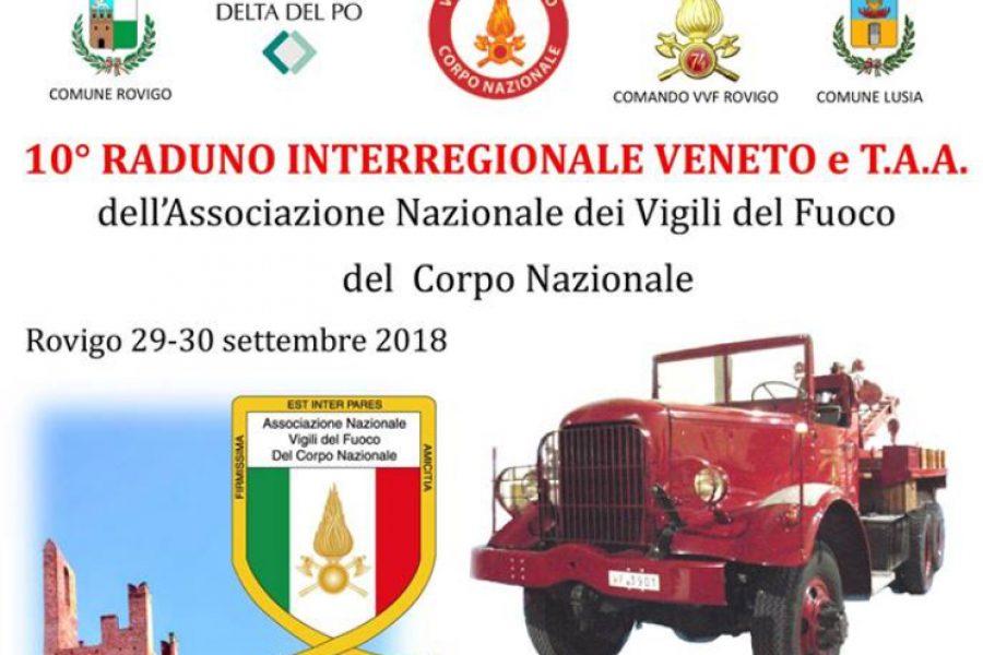 Domenica 30 settembre il 10° Raduno Interregionale Veneto e Trentino dei Vigili del Fuoco