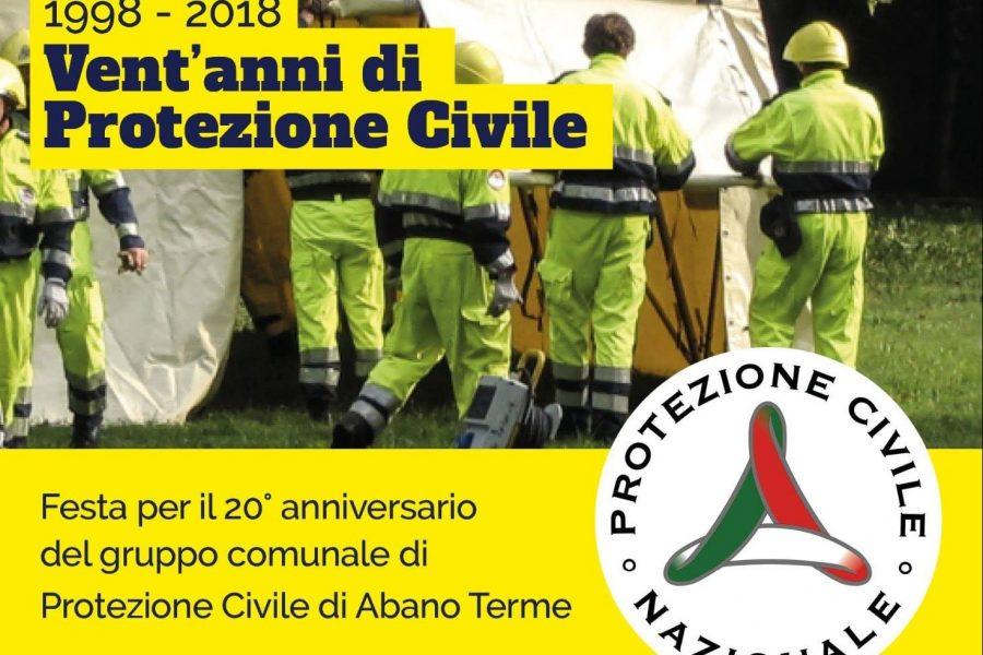 1998-2018. Domenica il Ventennale della Protezione Civile di Abano Terme. Appuntamento al Teatro Magnolia
