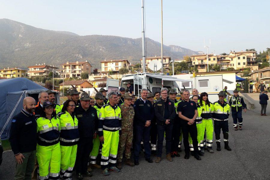 Grande esercitazione con Forze Armate e Protezione Civile Ana a Caprino Veronese