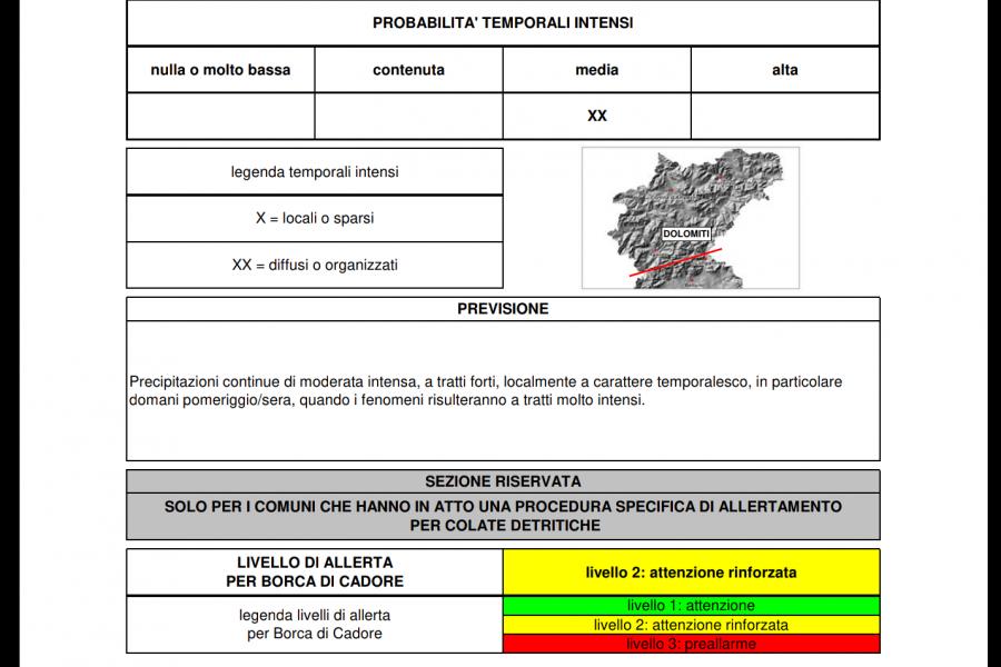 Nuovi avvisi meteo dal CFD Veneto