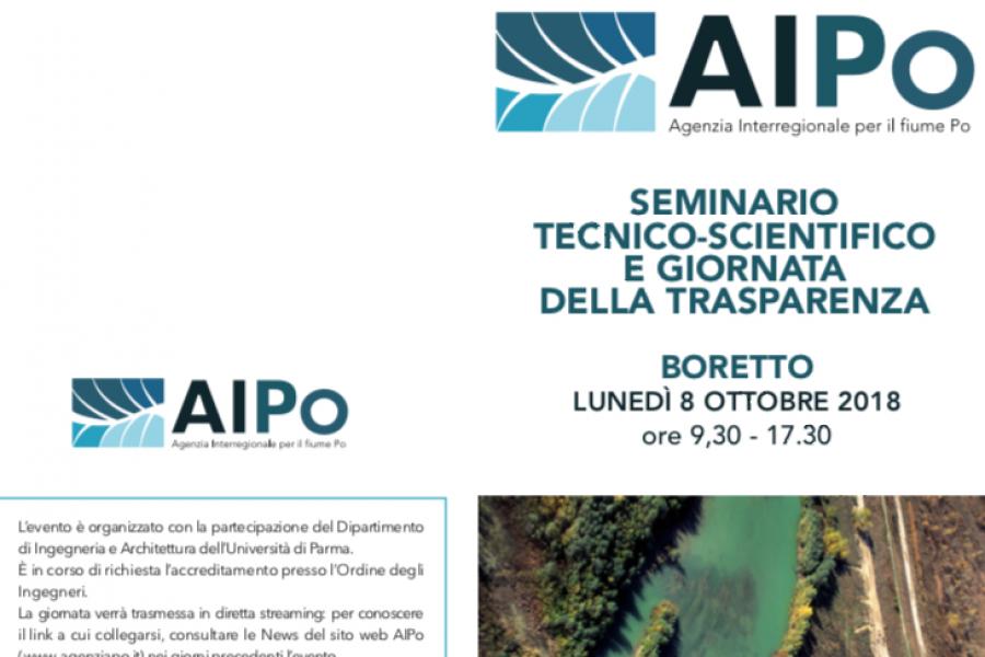 Giornata della Trasparenza. Un seminario per presentare alcuni progetti per la sicurezza idraulica al Polo Scientifico AIPo