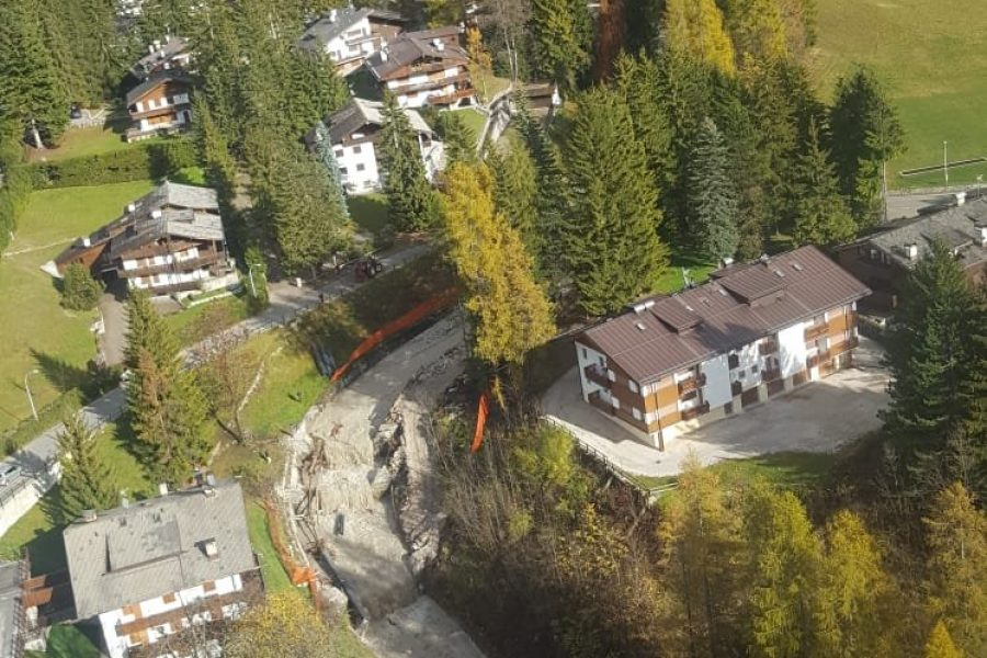 Le immagini delle zone disastrate riprese dall'alto