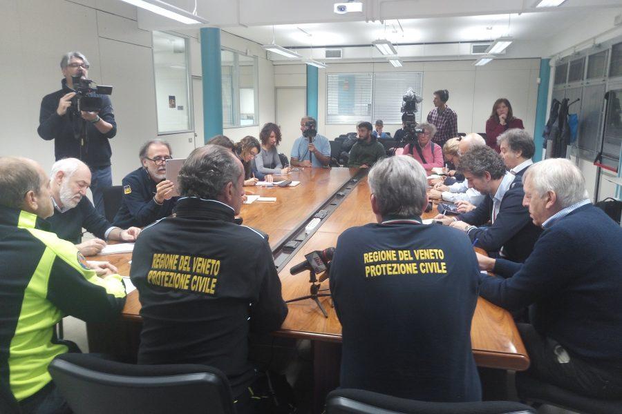 La Giunta regionale si riunisce nella sede della Protezione Civile. Alle 12 il presidente Zaia e l'assessore Bottacin faranno il punto con anche il capo Dipartimento della Protezione Civile Borrelli