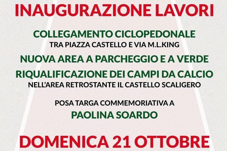 A Salizzole (Verona) una nuova pista ciclopedonale, un'area a parcheggio e verde e la riqualificazione dei campi da calcio