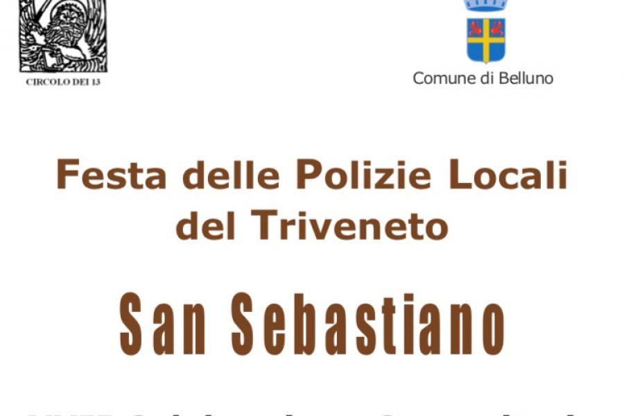 Festa delle Polizie Locali del Triveneto. Appuntamento mercoledì 23 gennaio a Belluno