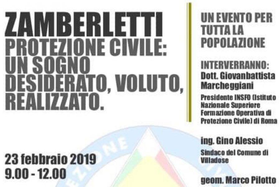 Sabato 23 febbraio a Villadose la giornata dedicata al padre fondatore della Protezione Civile, Giuseppe Zamberletti