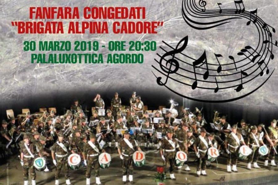 Sabato 30 marzo il concerto benefico della Fanfara dei congedati Brigada Alpina Cadore per la ricostruzione del territorio bellunese