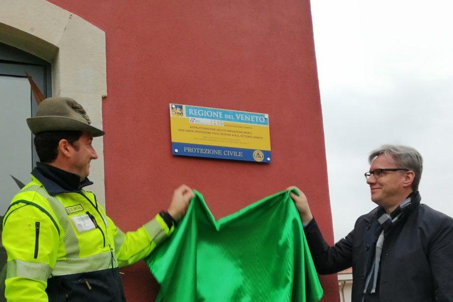 Inaugurata la nuova sede della Protezione Civile dell'Ana di Vittorio Veneto. Le immagini
