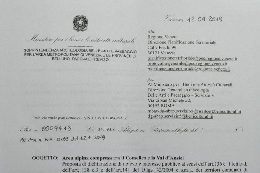 """Vincolo paesaggistico sul Comelico. Bottacin: """"Pronti alla battaglia a fianco dei comuni"""""""