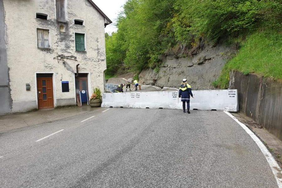 Sopralluogo della Protezione Civile alla frana di Schiucaz in Alpago