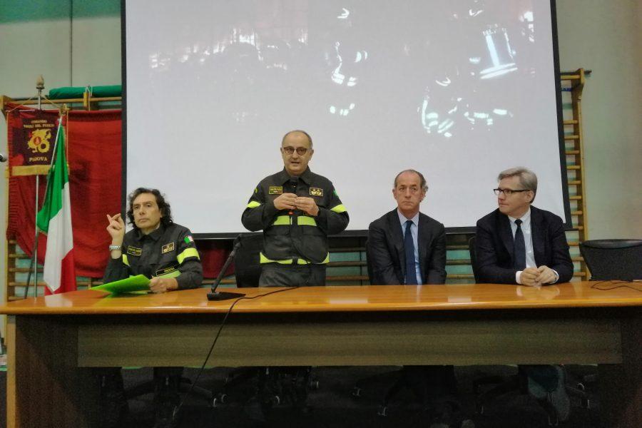 Presentazione del materiale fornito dalla Regione Veneto ai Vigili del Fuoco
