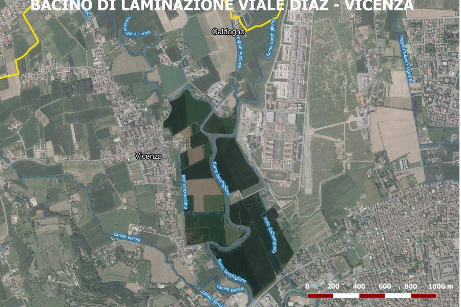 Al via i lavori dell'invaso di viale Diaz a Vicenza