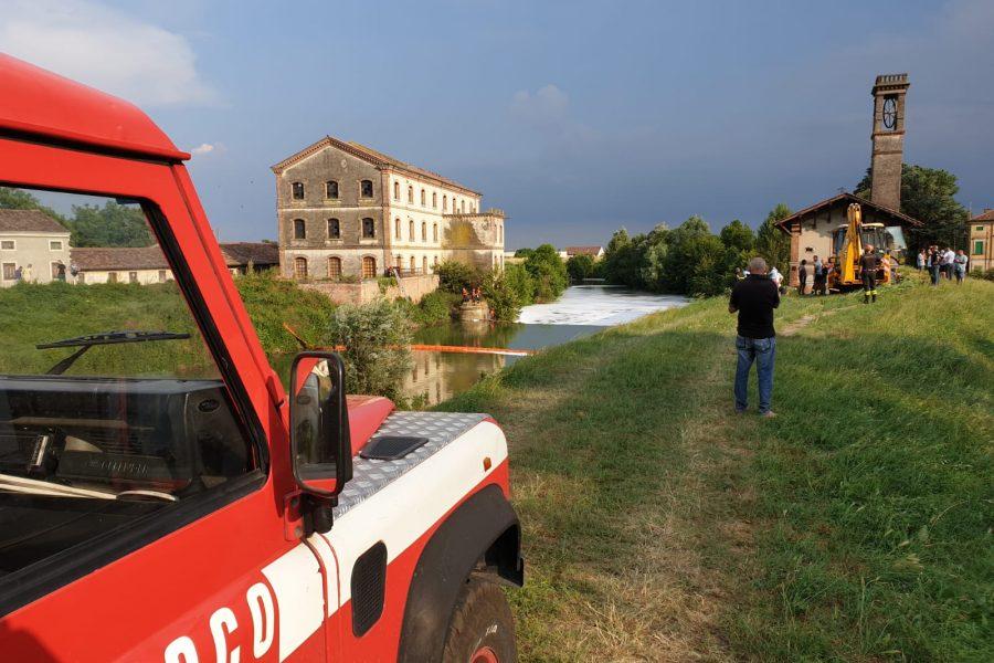 Scongiurato il pericolo di ampliare l'area di inquinamento delle acque dopo l'incendio di Brendola