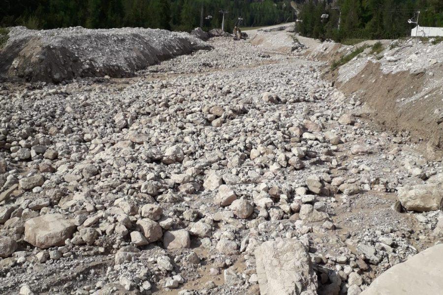 Iperconcentrata detritica in località Alverà a Cortina d'Ampezzo