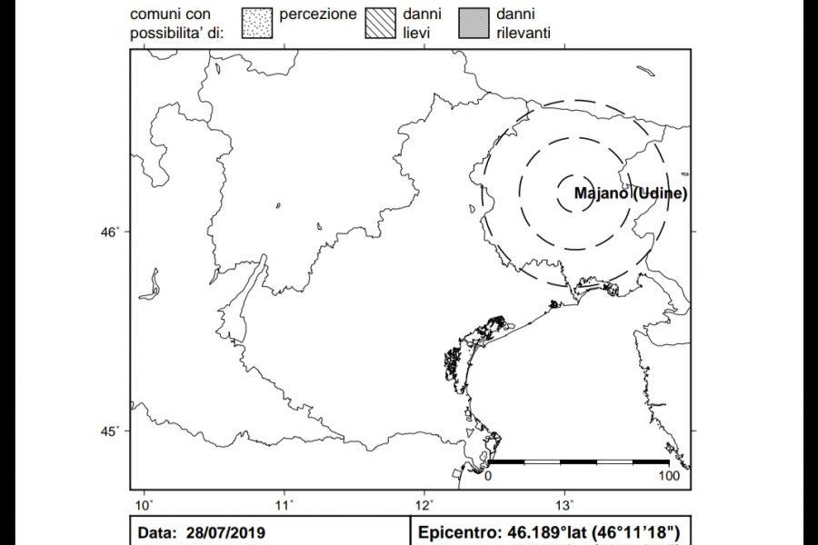 Secondo evento sismico di giornata in Friuli. Non avvertito in Veneto