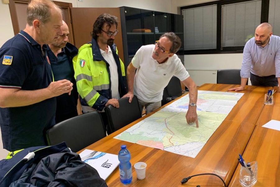 Tempestivo intervento notturno della Protezione Civile tra Cologna Veneta e Lonigo