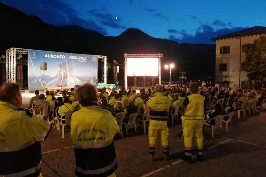 Le immagini della serata dedicata alla Protezione Civile svoltasi ad Auronzo di Cadore