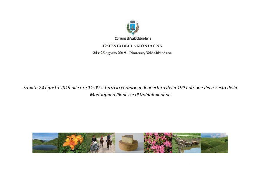 Il 24 e 25 agosto la festa della Montagna a Valdobbiadene