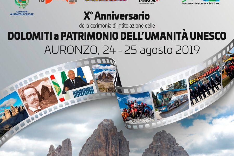 Ad Auronzo di Cadore i dieci anni delle Dolomiti Patrimonio dell'Unesco. Festeggiamenti il 24 e 25 agosto