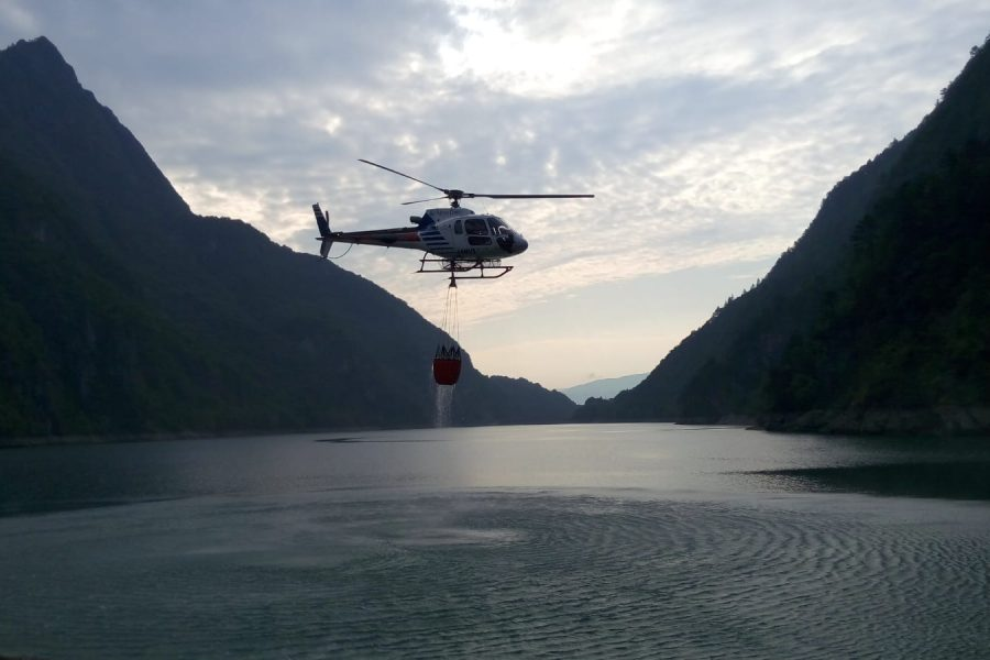 Spento incendio nel Parco delle Dolomiti Bellunesi