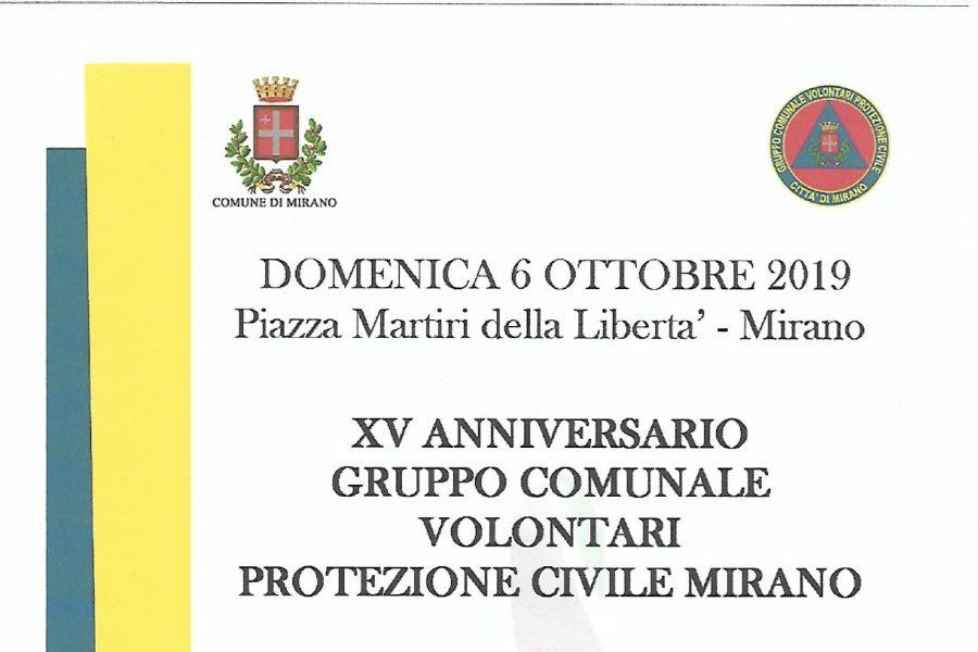 A Mirano il XV anniversario della fondazione del gruppo locale di Protezione Civile