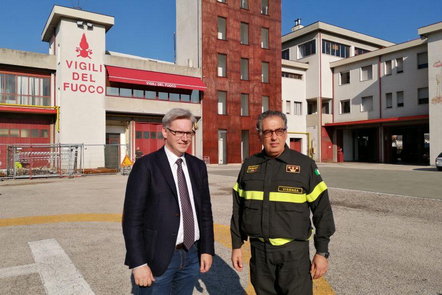 Visita ai Vigili del Fuoco di Vicenza, Bassano e Thiene