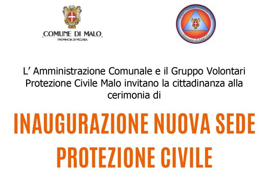 Inaugurazione nuova sede della Protezione Civile di Malo
