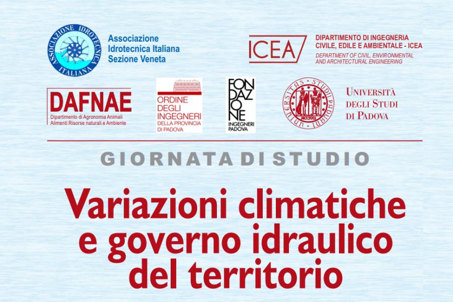 Variazioni climatiche e governo idraulico del territorio. Importante convegno all'Università di Padova