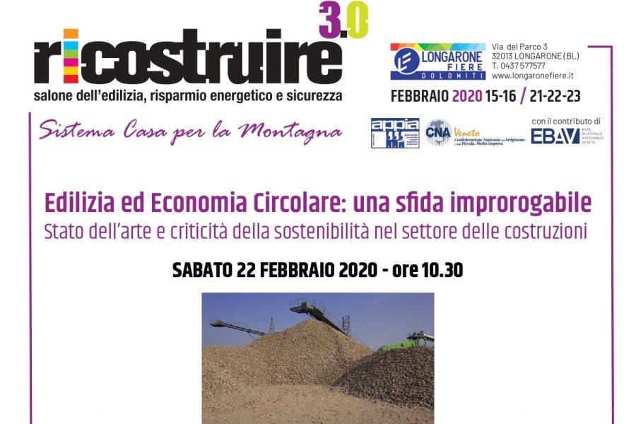 Ricostruire 3.0 – Edilizia e ed Economia Circolare: una sfida improrogabile