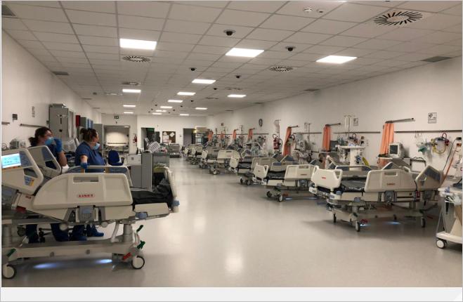 Nuovi posti di terapia intensiva al Covid-Hospital di Schiavonia