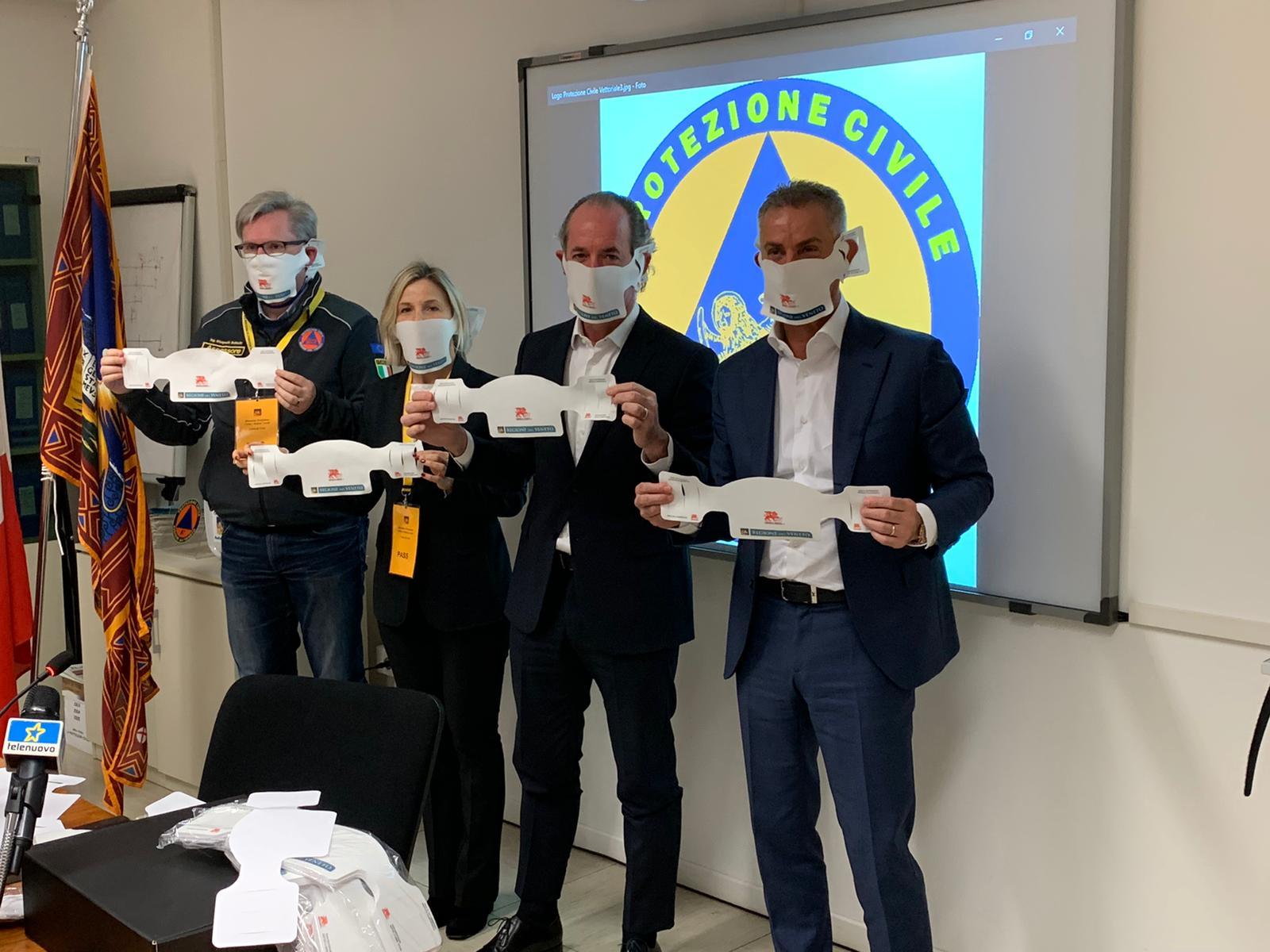 Arrivano mascherine made in Veneto. Le produce Grafica Veneta che ne ha donate 2 milioni alla Regione