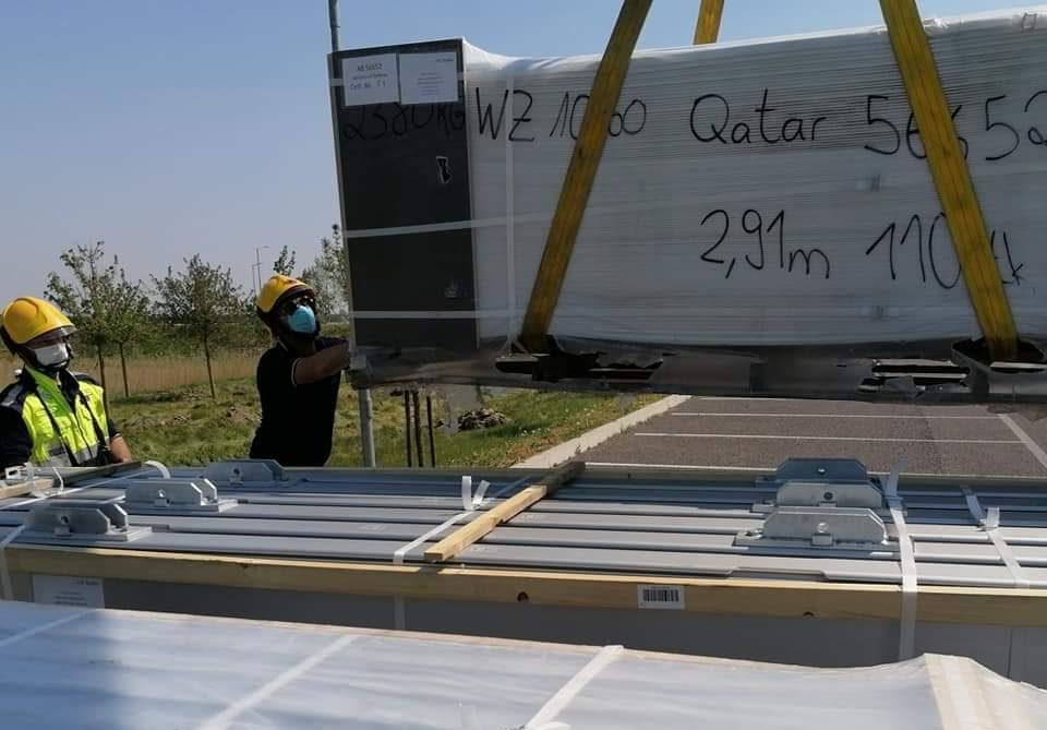 Al via a Schiavonia l'allestimento dell'ospedale da campo donato dal Qatar. Bottacin dettaglia il cronoprogramma
