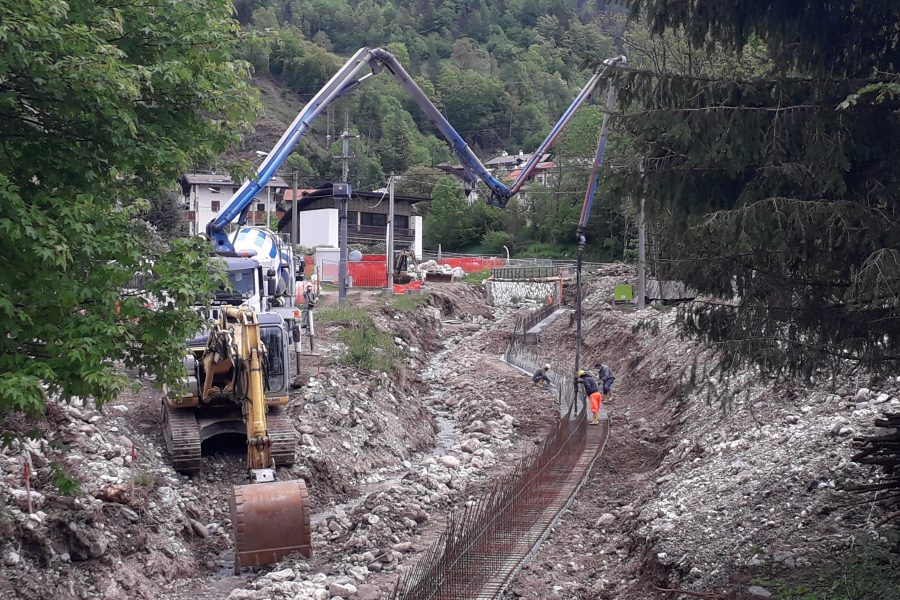 Importanti lavori sul Campregana a Toccol di Agordo
