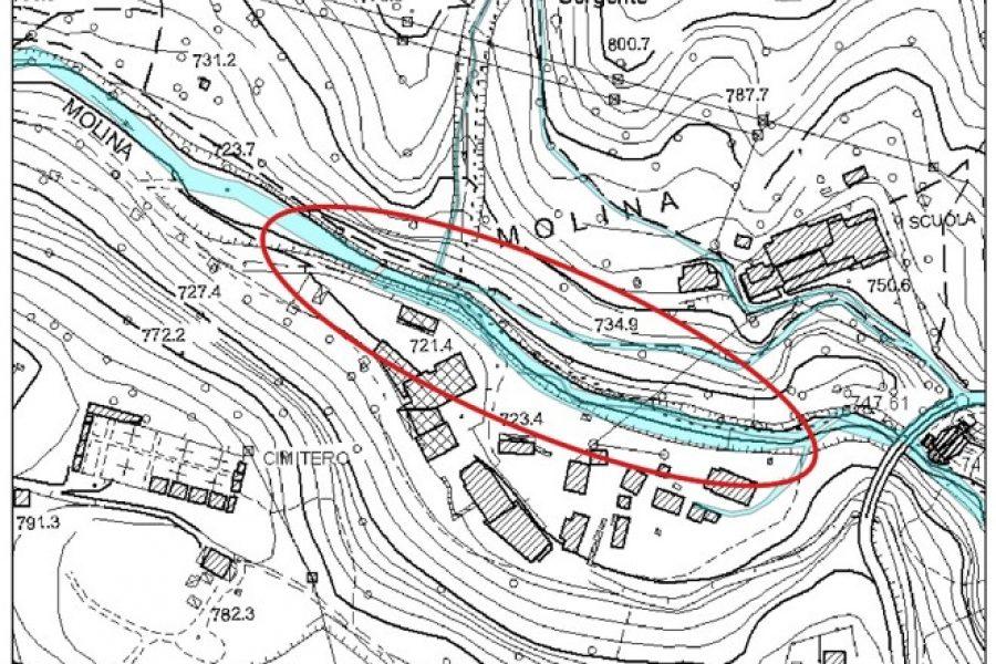In esecuzione importante intervento sul torrente Molinà in Centro Cadore