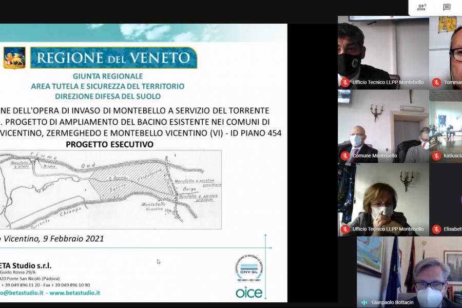 """Ampliamento bacino di Montebello Vicentino. Presentato il progetto. Bottacin: """"Contro avversità meteo garantire la sopravvivenza di cittadini e imprese"""""""