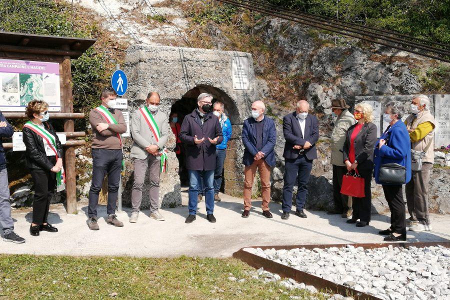 Inaugurata la passerella che unisce Peron e San Gottardo