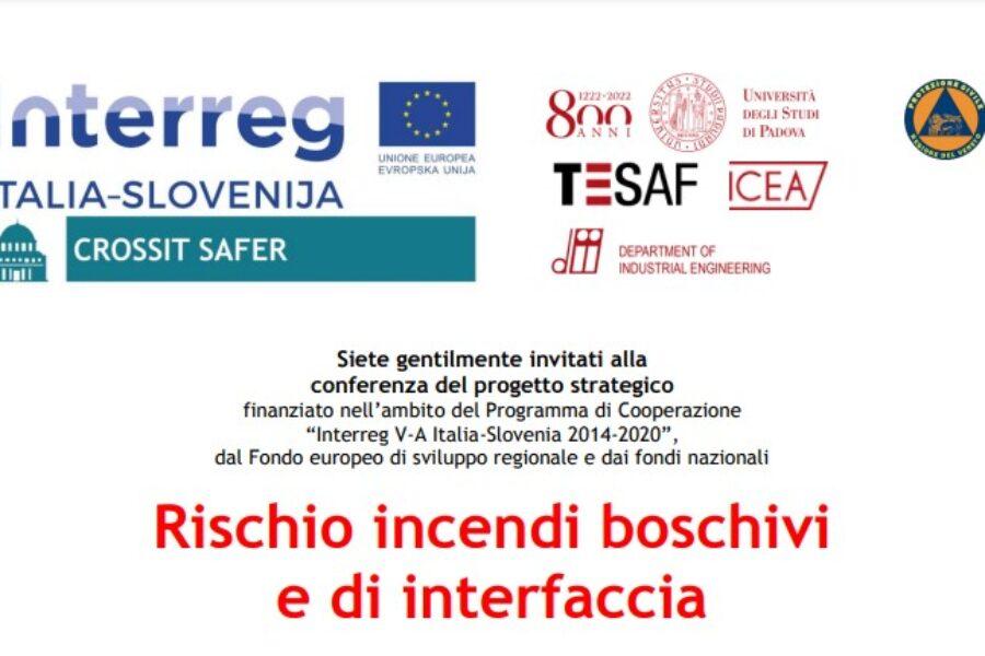 """Progetto interreg """"Crossit Safer. Il 31 maggio due conferenze sui rischi naturali. L'assessore Bottacin: """"le emergenze non tengono conto dei confini amministrativi"""""""